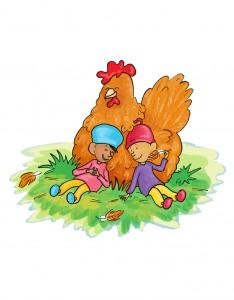 Tip en Top en de kip