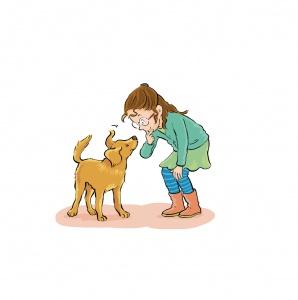 Kind met hondje, Praxisbulletin, Malmberg