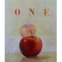 One apple..