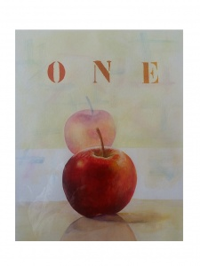 One apple..